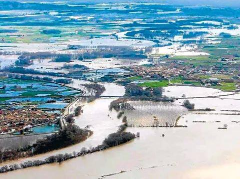 Pradilla de Ebro, inundada.