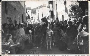 29 de marzo de 1942. Procesión de La Burreta, desde Franciscanos.
