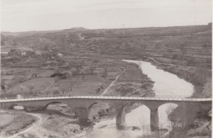 Mediados de siglo XX. El Guadalope a su paso por Caspe